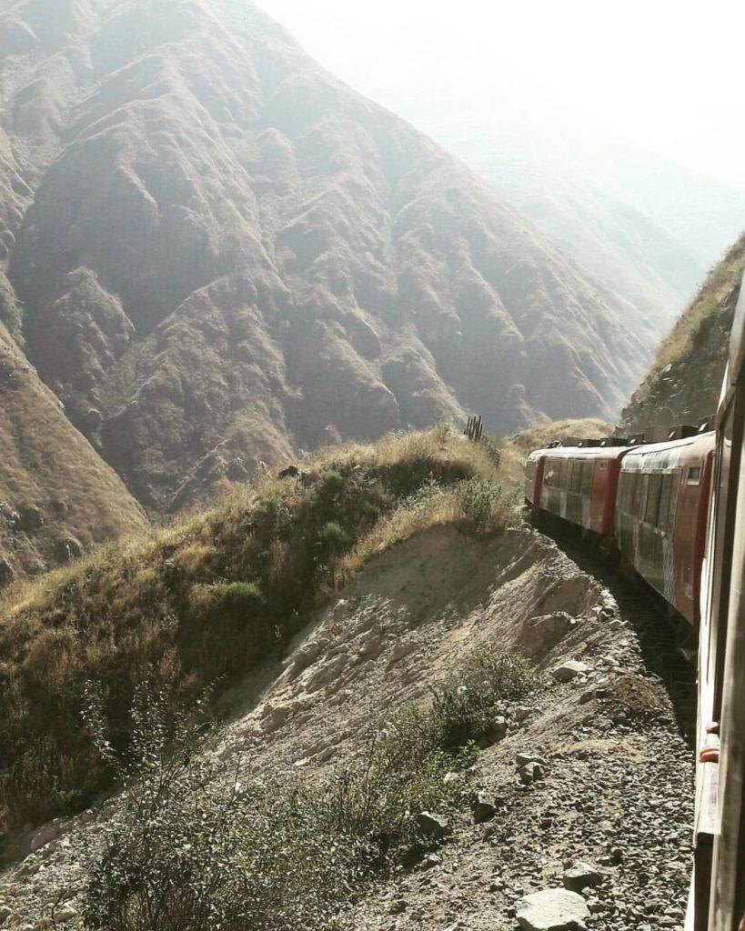 Tren durante la ruta