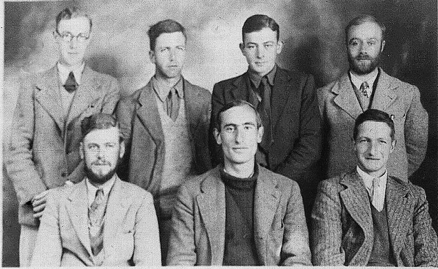 Miembros de la expedición al lago Titicaca en el año 1937