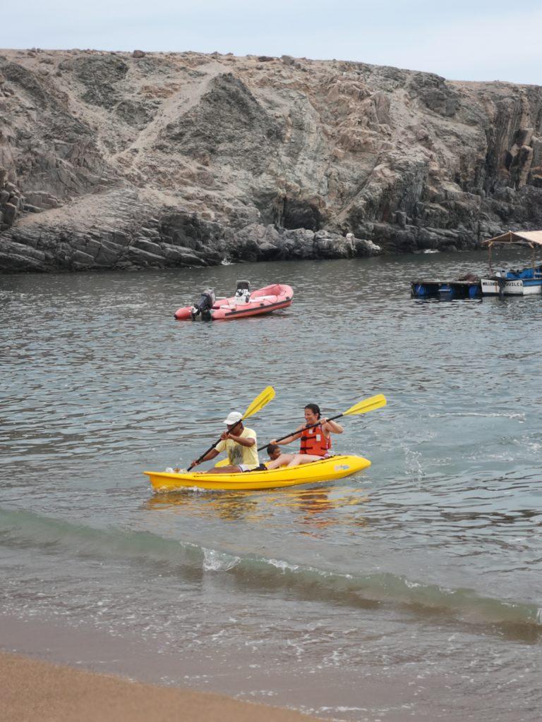 Kayak en la caleta San José