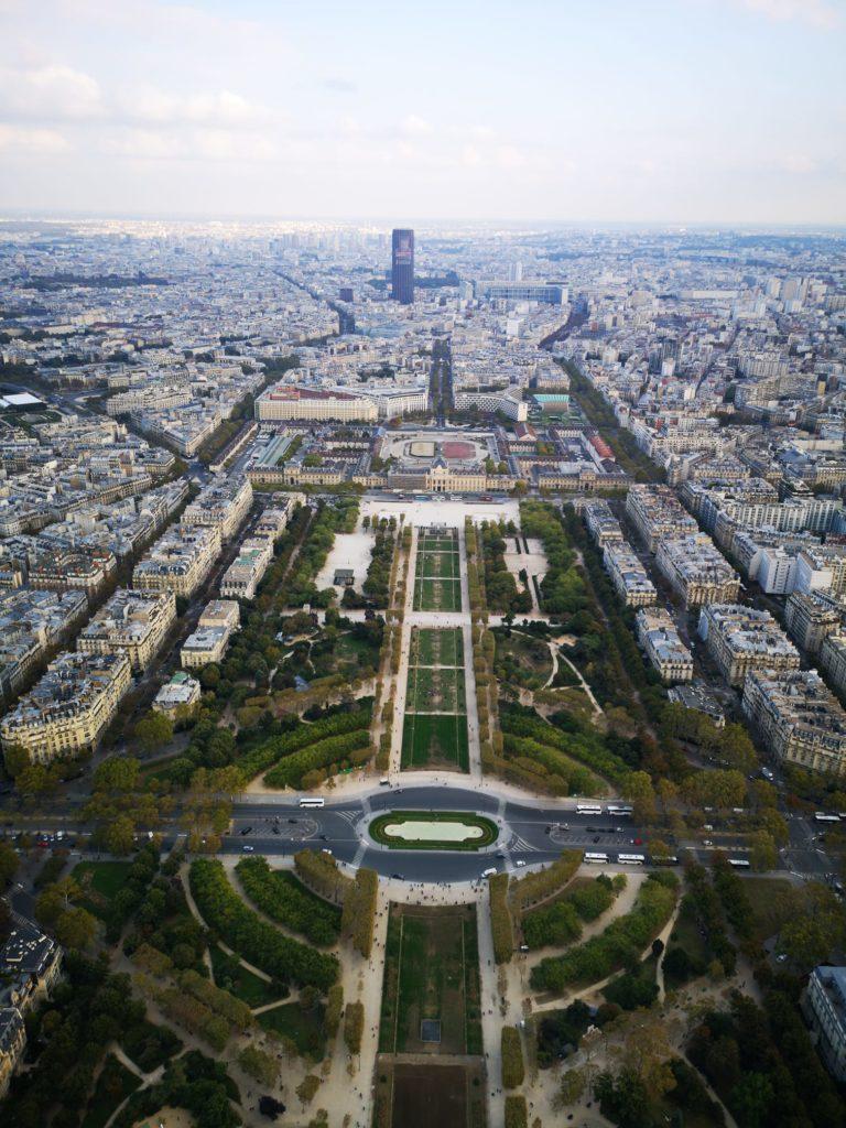 Vista desde la cumbre de la torre Eiffel