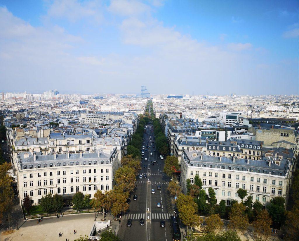 Vista desde la terraza del arco del triunfo
