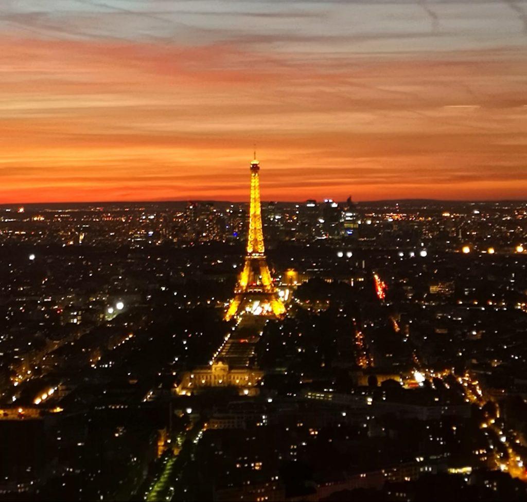 Torre Eiffel desde la torre Montparnasse