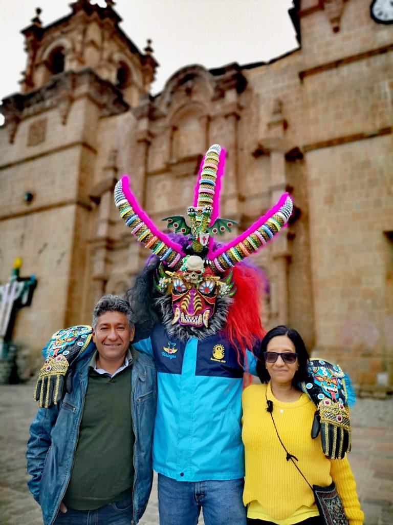 Fiesta de la Candelaria: familia de Carlos