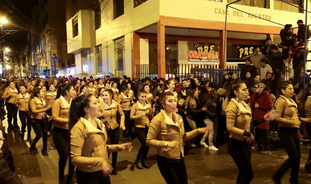 Fiesta de la candelaria: recepción de bandas