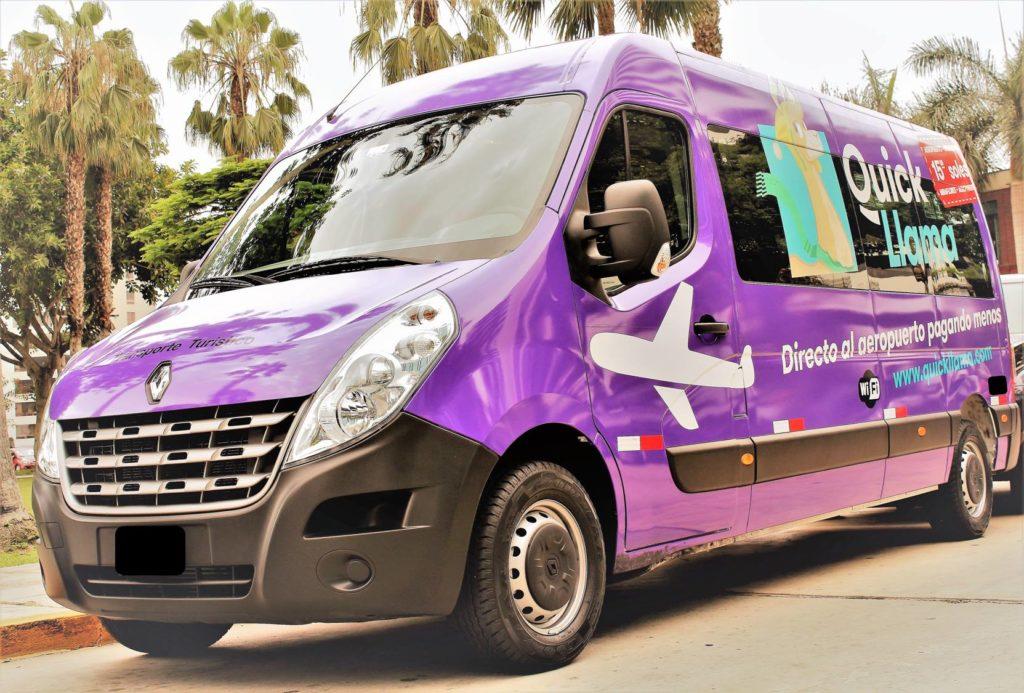 Cómo trasladarse desde el aeropuerto de Lima: vehículo de QuickLlama