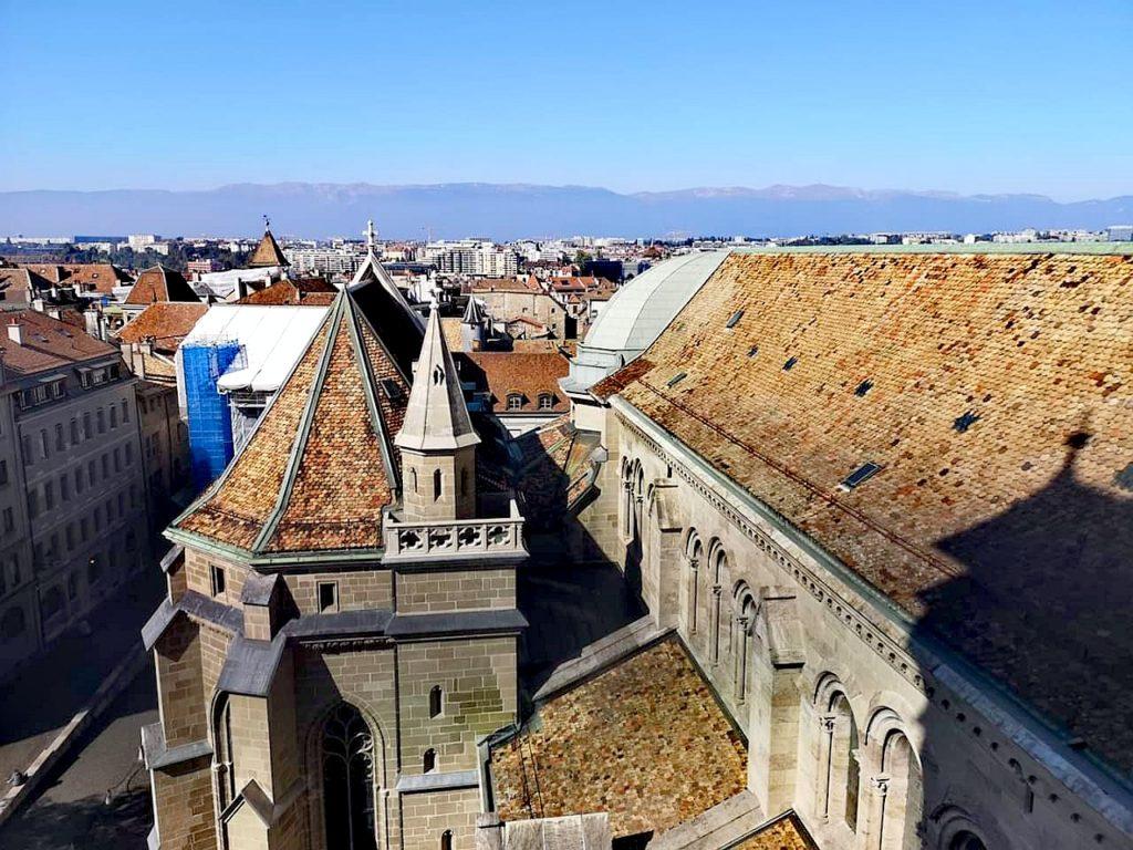 Vista del centro histórico de Ginebra