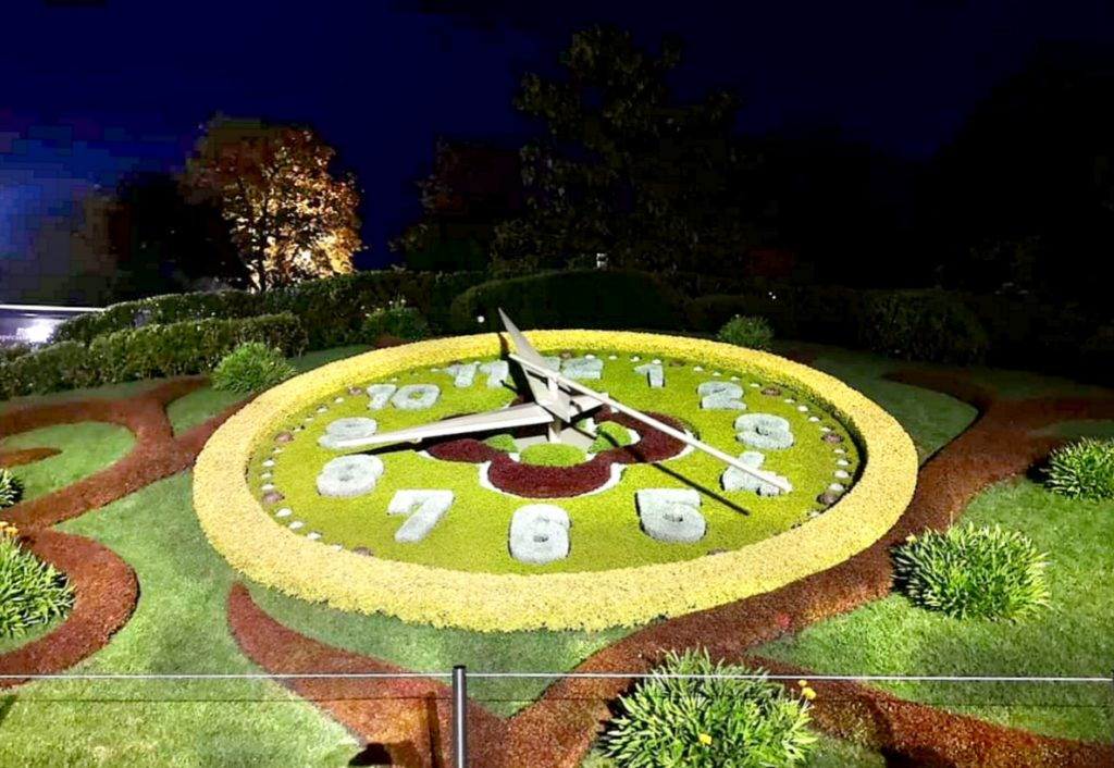 Qué hacer en Ginebra en 2 días: reloj de flores