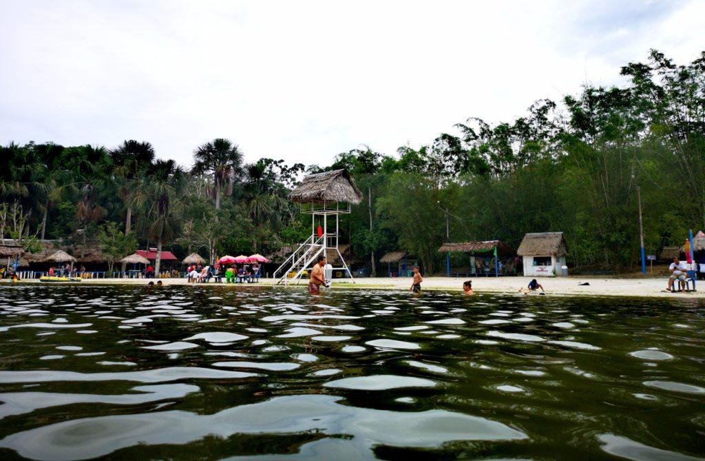 Vista de la laguna de Quistococha desde adentro